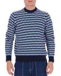 Prada Jacquard Sweater - Blue
