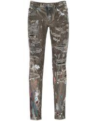 Dolce & Gabbana Distressed Paint Splatter Jeans - Multicolor
