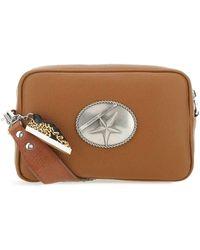 Golden Goose Deluxe Brand Logo Plaque Embellished Shoulder Bag - Brown