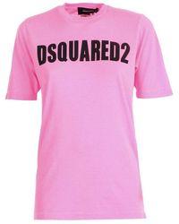DSquared² - Logo Printed T-shirt - Lyst