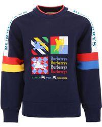 Burberry - Logo Patch Sweatshirt - Lyst