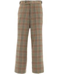 Needles Mid-rise Checked Pants - Brown
