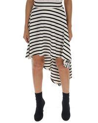 Sonia Rykiel Striped Asymmetric Skirt - Black