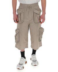 Sunnei Drawstring Cargo Shorts - Natural