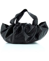 The Row Knotted Handle Shoulder Bag - Black