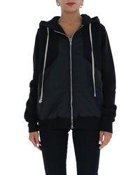 Rick Owens Drkshdw Drawstring Zipped Sweatshirt - Black