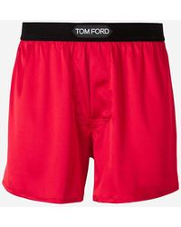 Tom Ford Logo Waistband Boxer Shorts - Red