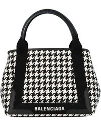 Balenciaga Navy Cabas Small Handbag - Black