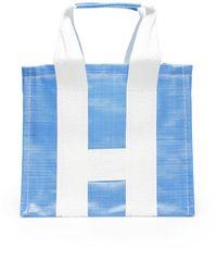 Comme des Garçons Large Tote Bag - Blue