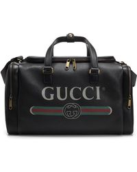 eb2098b0180 Gucci Hounds Tooth Holdall in Red for Men - Lyst