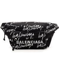 Balenciaga Wheel Belt Bag - Black