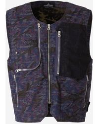 Stone Island Shadow Project Camouflage Utility Vest - Blue