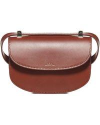 A.P.C. Genève Shoulder Bag - Brown