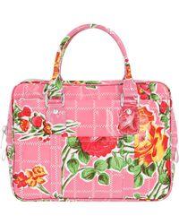 Comme des Garçons Floral Print Handbag - Pink