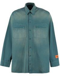 Heron Preston Faded Effect Denim Shirt - Green