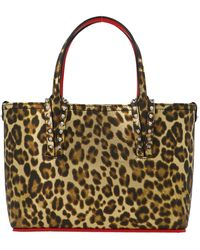 Christian Louboutin Leopard Print Mini Shopping Bag - Multicolor