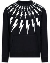 Neil Barrett Thunderbolt Sweater - Black