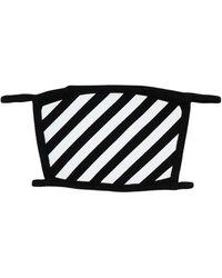 Off-White c/o Virgil Abloh Diag Printed Face Mask - Black