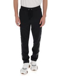 Valentino Vlogo Striped Track Trousers - Black
