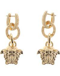 Versace Medusa Earrings - Metallic