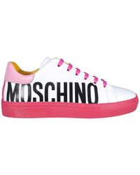 Moschino Side Logo Print Sneakers - Multicolor