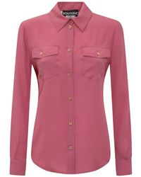 Boutique Moschino Flap-pocket Buttoned Top - Pink
