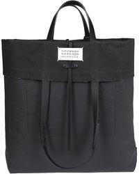 Maison Margiela Fold Over Wrinkled Tote Bag - Black