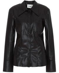 Nanushka Tippi Faux Leather Shirt - Black
