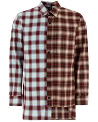 Lanvin Asymmetric Tartan Shirt - Multicolor