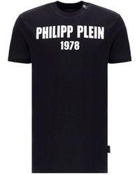 Philipp Plein Logo Print T-shirt - Black
