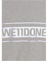 we11done Logo Printed Oversized Sweatshirt - Gray