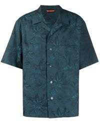 Barena Floral Print Short-sleeve Shirt - Blue