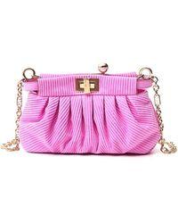 Fendi Peekaboo Clutch Bag - Pink