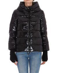 Herno Glove Detail Down Jacket - Black