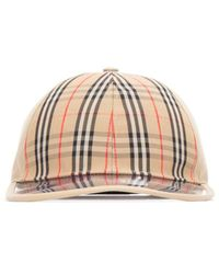 Burberry Checked Baseball Cap - Natural