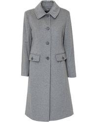 Polo Ralph Lauren Single Breasted Maxi Coat - Grey