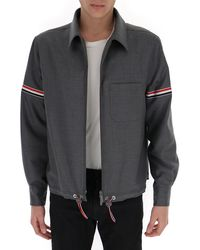Thom Browne Armband Shirt Jacket - Grey