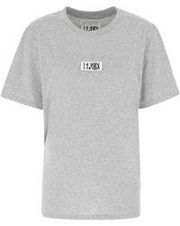 MM6 by Maison Martin Margiela Melange Grey Cotton T-shirt Nd