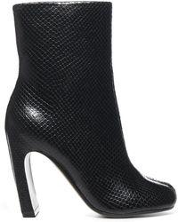 Maison Margiela Tabi Embossed Boots - Black