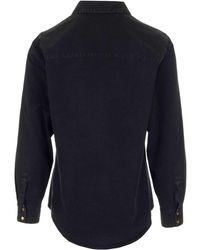 Gucci Web Stripe Denim Shirt - Black