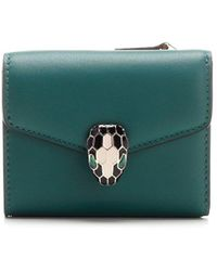 BVLGARI Serpenti Forever Trifold Wallet - Green