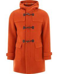 Herno Men's Mo001ur332845900 Orange Wool Coat