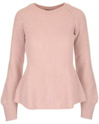 Alberta Ferretti - Ribbed Knitted Sweater - Lyst