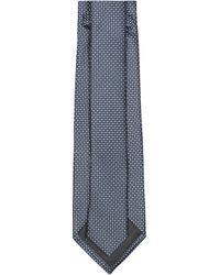Z Zegna Geometric Jacquard Tie - Blue