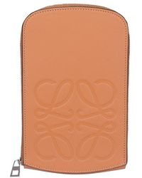 Loewe Anagram Embossed Strapped Case - Brown
