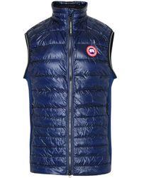 Canada Goose Blue Polyamide And Polyester Hybridge Sleeveless Jacket