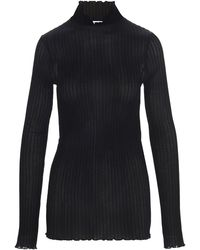 Jil Sander Ribbed Turtleneck Pullover - Black