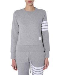 Thom Browne 4 Bar Sweatshirt - Grey