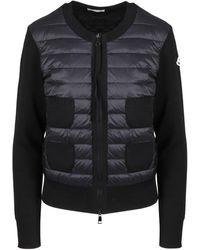 Moncler Padded Knitted Jacket - Black