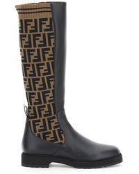 Fendi Ff Logo Boots - Multicolour